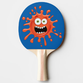 Super Scared Face Splattered on Ping Pong Paddle