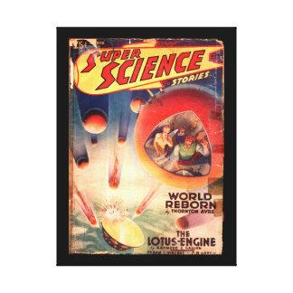 Super Science Stories v01 n01 (1940-03.Fictioneers Canvas Print