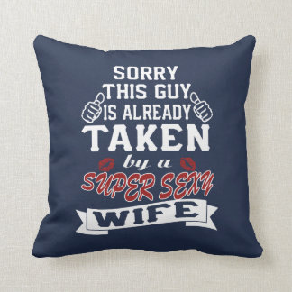 Super sexy wife throw pillow