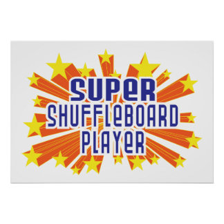 Super Shuffleboard Player Poster