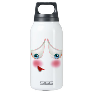 Super Shy and Blushing Emoji Insulated Water Bottle