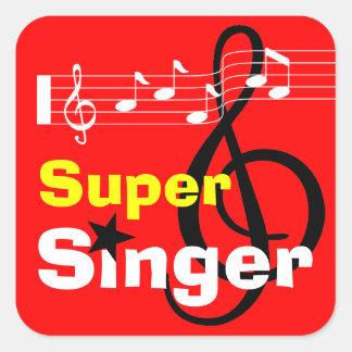 Super Singer School Sticker