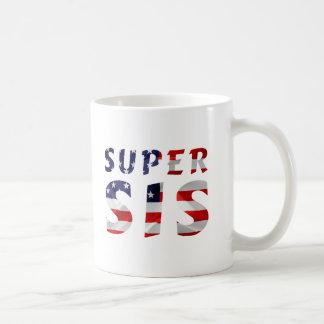Super Sis and the American Flag Coffee Mug