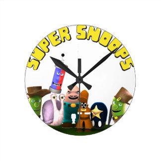 Super Snoops Jr. Detectives Round Clock