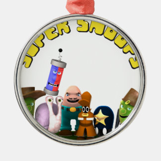 Super Snoops Jr. Detectives Silver-Colored Round Ornament