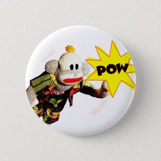Super SockMonkey Hero 2 Inch Round Button