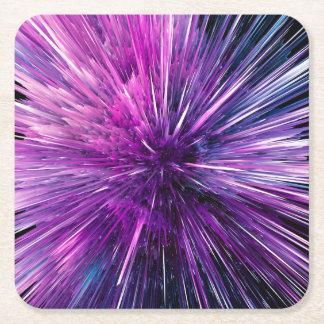 Super sonic - gorgeous purple square paper coaster