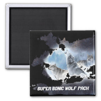Super Sonic Wolf Pack Magnet