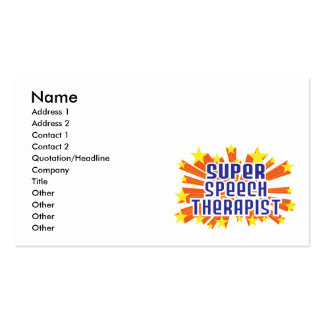 Super Speech Therapist Double-Sided Standard Business Cards (Pack Of 100)