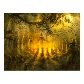 Super Spooky Scarecrows Postcard