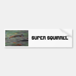 SUPER SQUIRREL!!!! BUMPER STICKER