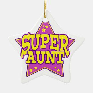 Super Star Aunt Ceramic Star Ornament