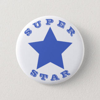 SUPER STAR | Big Navy Blue Star Button