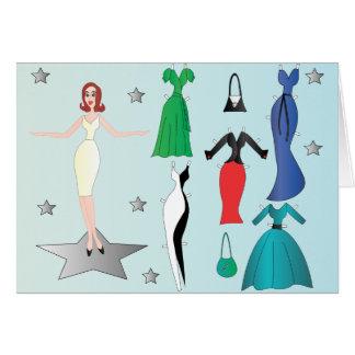 Super-Star Denise Paper Doll Card