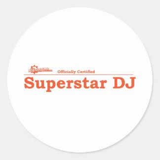 Super Star DJ Certified Classic Round Sticker