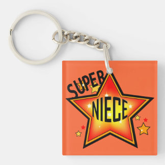 Super Star Niece Funny Keychain