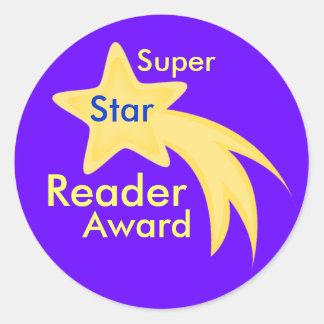 Super Star Reader Award Stickers
