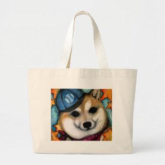 Super Star Shiba Inus Large Tote Bag