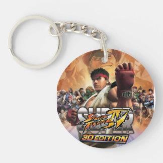 Super Street Fighter IV 3D Edition Box Art Keychain