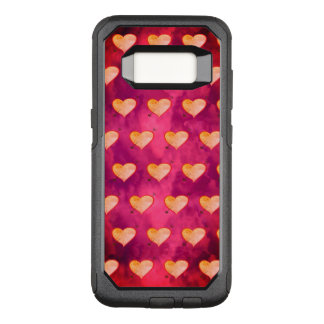 Super Sweet Vibrant Purple Pink Heart Pattern Chic OtterBox Commuter Samsung Galaxy S8 Case