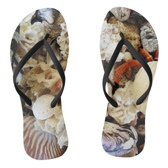 Super Swell Seashell Flip Flops