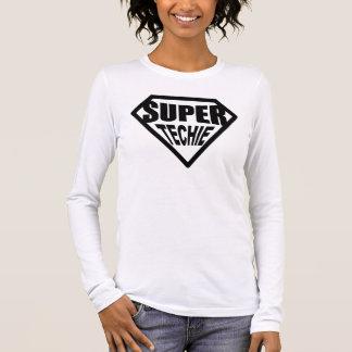 Super Techie - Black Long Sleeve T-Shirt