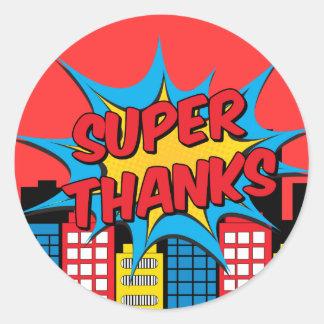 Super thanks round sticker