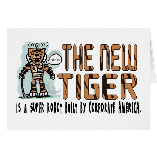 Super Tiger Robot by Corporate America Card