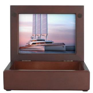 Super trimaran yacht keepsake box