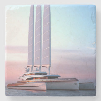 Super trimaran yacht stone coaster