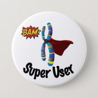 Super User 3 Inch Round Button