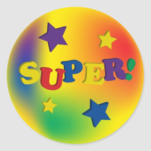 Super! With Stars Stickers