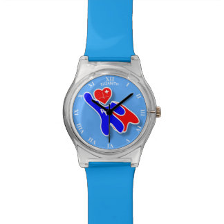 Super Wonder Registered Nurse RN, With Red Heart Watch