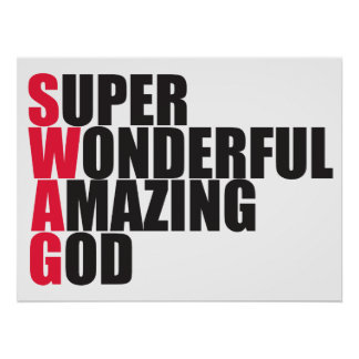 Super Wonderful Amazing God Poster