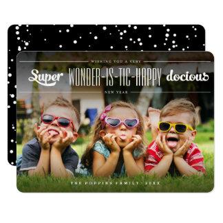 Super Wonderistic Happy New Year Fun Holiday Card