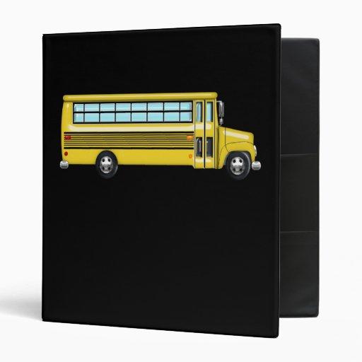 Super Yellow School Bus Vinyl Binder
