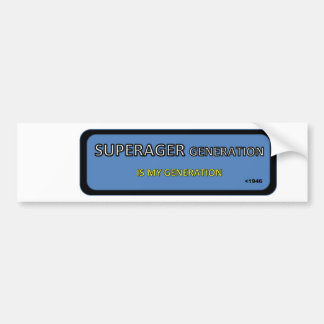 SUPERAGER bumper/window sticker