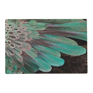 Superb Bird of Paradise feathers Laminated Placemat