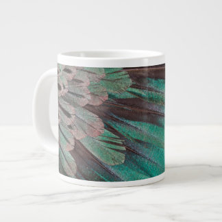 Superb Bird of Paradise feathers Large Coffee Mug