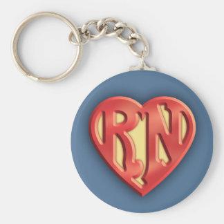 Superb RN IV Basic Round Button Keychain