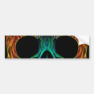 Superb Sugar Skull Dia De Los Muertos Candy Skull Bumper Sticker