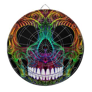 Superb Sugar Skull Dia De Los Muertos Candy Skull Dartboard