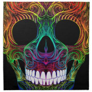 Superb Sugar Skull Dia De Los Muertos Candy Skull Napkin