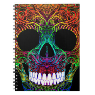 Superb Sugar Skull Dia De Los Muertos Candy Skull Notebooks