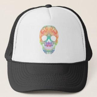Superb Sugar Skull Dia De Los Muertos Candy Skull Trucker Hat
