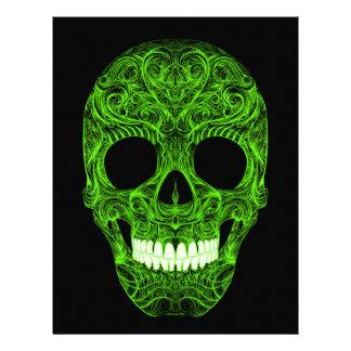 Superb Sugar Skull Dia De Los Muertos Day of the D Letterhead