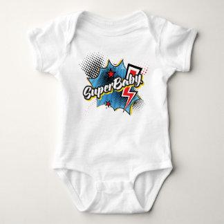 SuperBABY superhero comic bodysuit gift BLUE