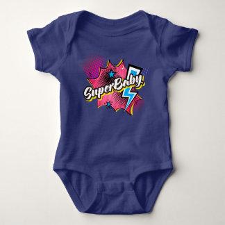 SuperBABY superhero comic bodysuit gift PINK, NAVY