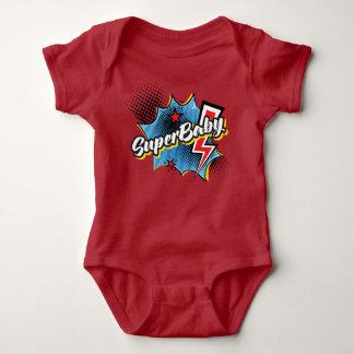 SuperBABY superhero comic bodysuit gift RED
