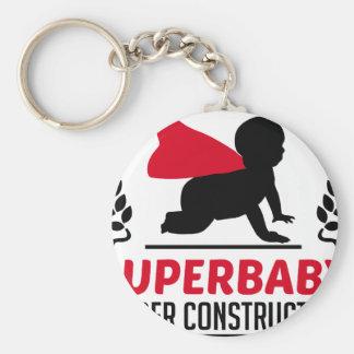 superbaby under construction keychain